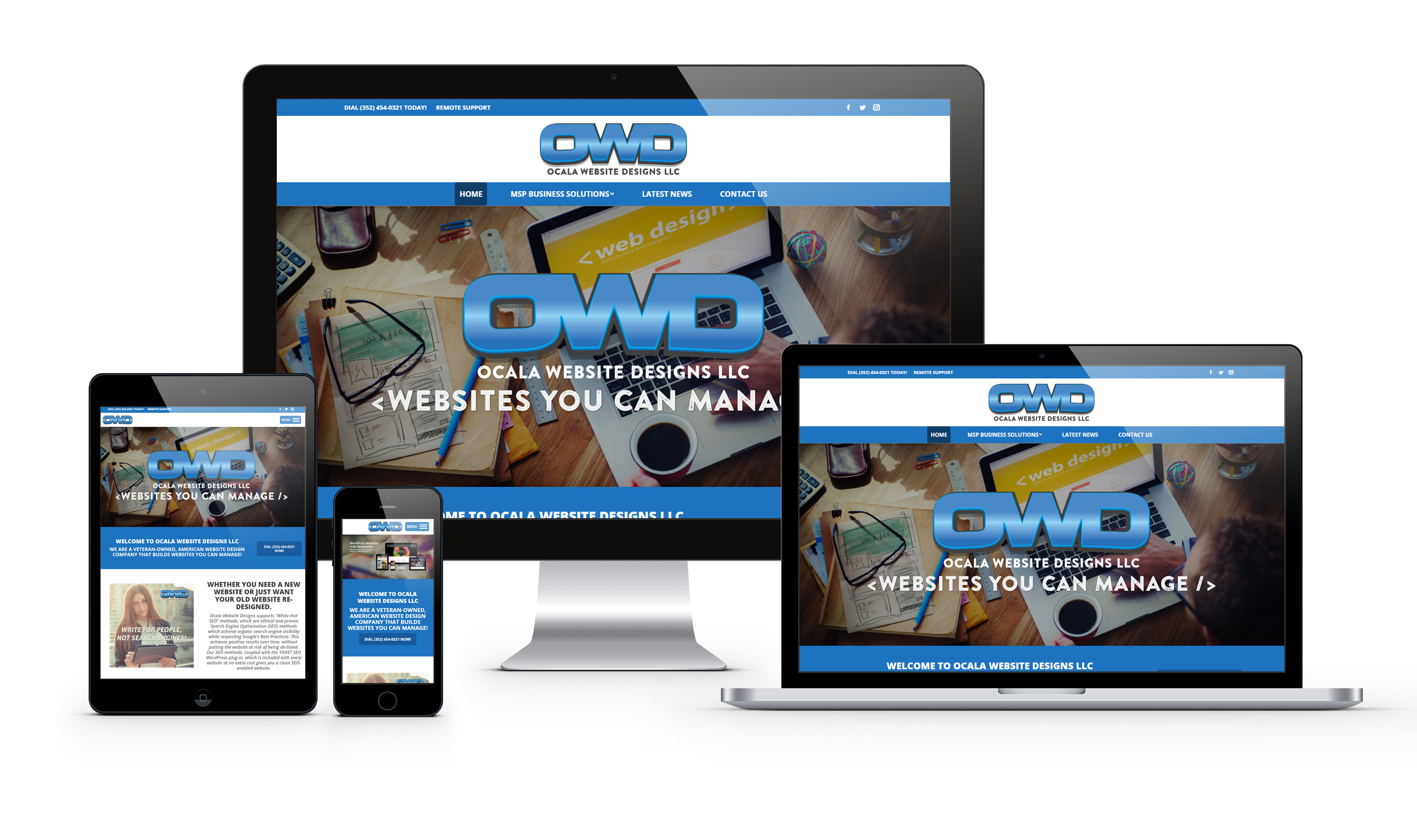 OCALA WEBSITE DESIGNS RESPONSIVE WEBSITES